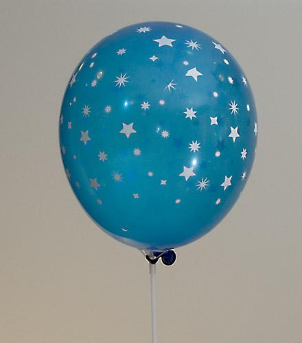 Ballong - blue white stars