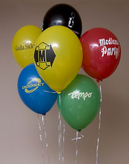 Olika exempel på ballonger med tryck
