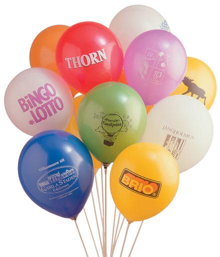 Ballonger med tryck - reklam