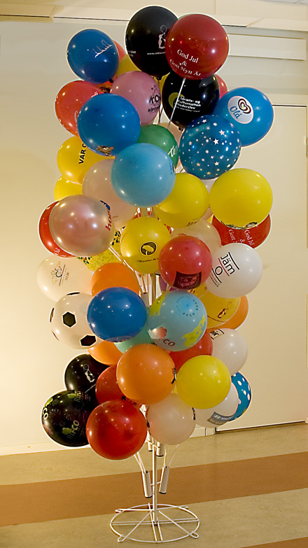Ballonger med tryck - ballongställ