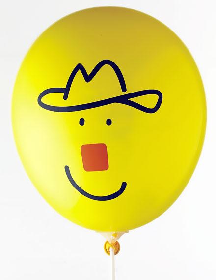 Ballonger med tryck - enkelt motiv