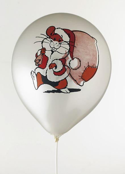 Ballonger med tryck - julmotiv