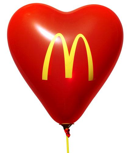 Ballonger med tryck - McDonalds